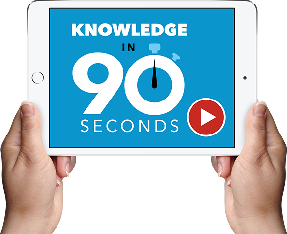 Knowledge in 90 Second Videos