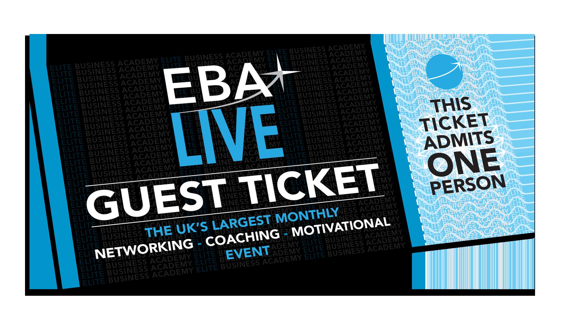 EBA Live Networking Event Ticket Sheffield